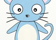 ひょうきんな顔をしたネズミ
