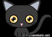 猫イラスト:日本猫(黒猫)