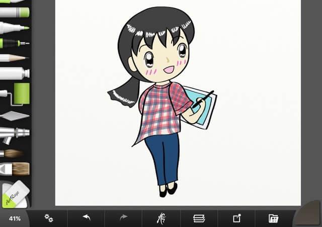 簡単なカット絵の描き方01:ブログや名刺に使えるアバター用イラスト