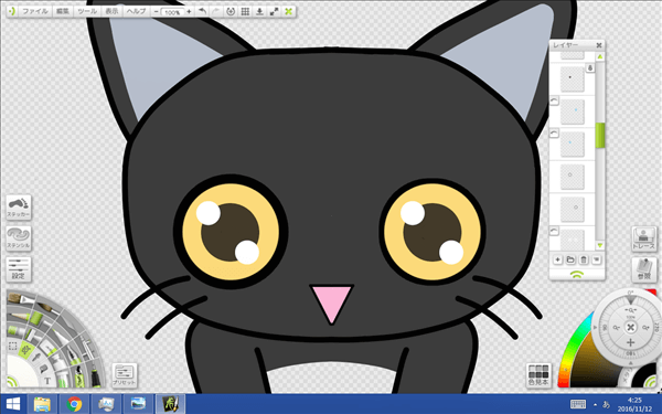 猫の目アップの図