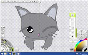 名刺用猫の目のサンプル4