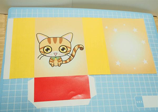 猫ギフトバッグのペーパークラフト