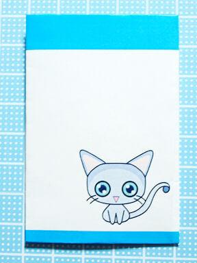 ロシアンブルーの猫ポチ袋
