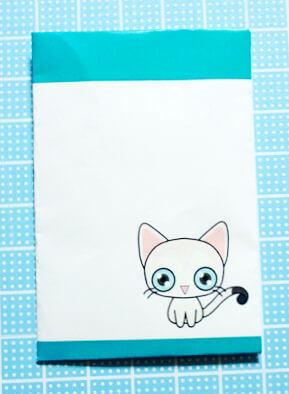 シンガプーラの猫ポチ袋