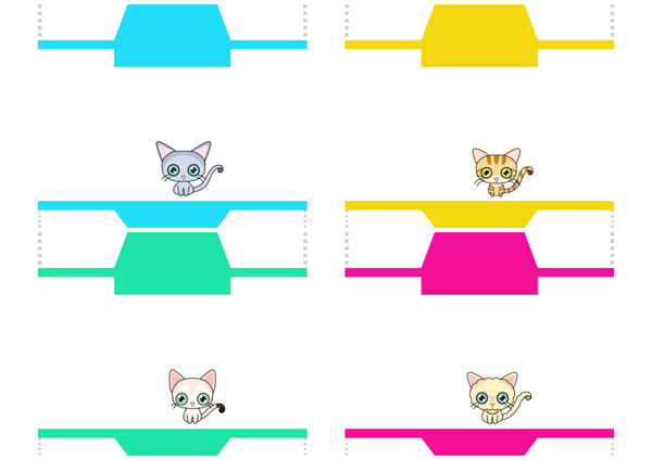 無料テンプレート:猫ポチ袋その2のPDF見本