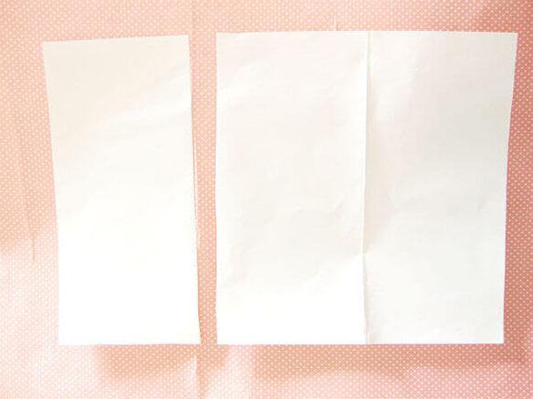 ポチ袋1個分の紙を切り離します