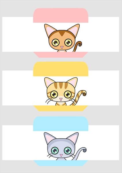 猫絵が大きくて困る、猫ミニ封筒(ビッグ版)その1