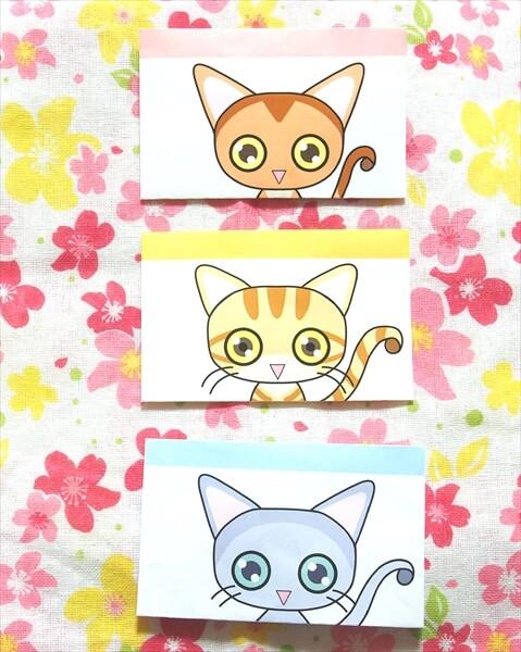 フリー素材:猫イラスト付き封筒類(※横型)を配布中