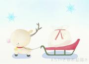 2017.11.26_赤鼻のトナカイ(クリスマスポストカード)
