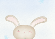 2017.11.25_クリスマスを夢見るウサギ(クリスマスポストカード)