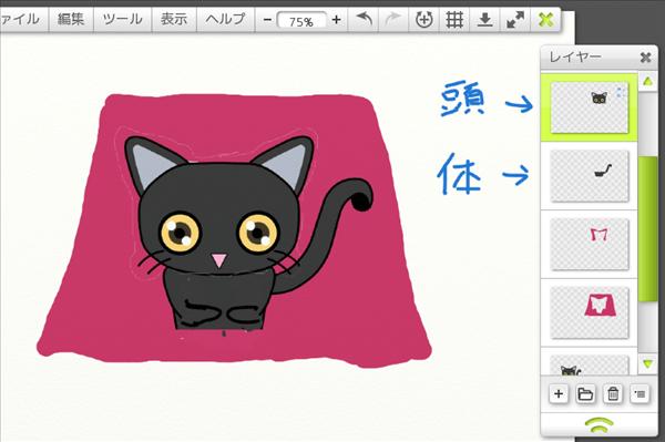 猫絵ラフ図の作り方