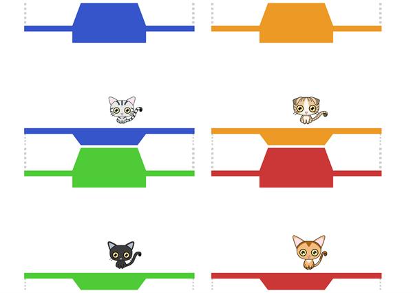 猫ぽち袋の図