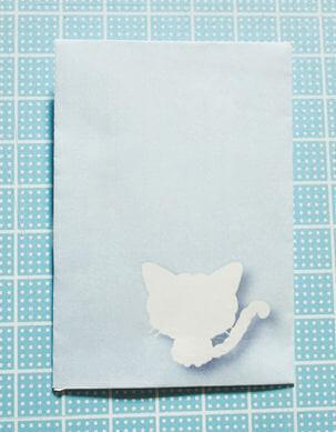 大人可愛いシルエット姿の猫ぽち袋(セルカークレックス)