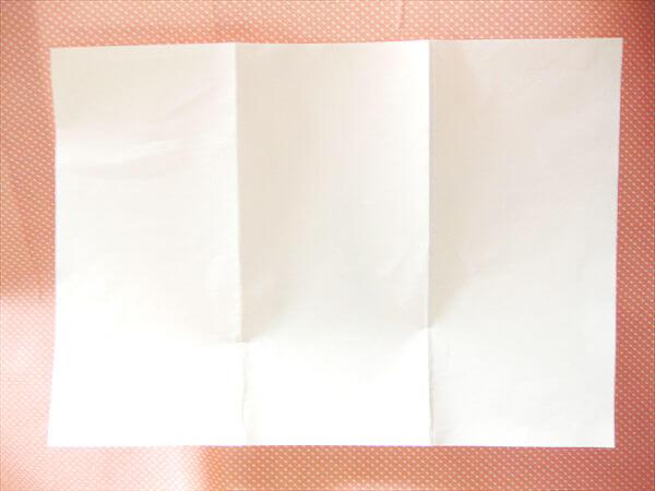 紙を折ってポチ袋のレイアウトを決める