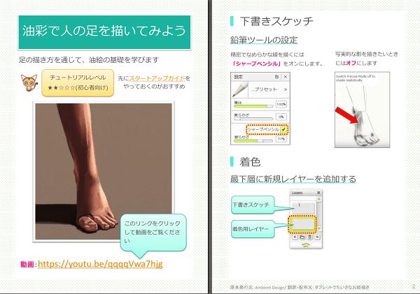 Artrageの油彩ツールで人の足を描く方法