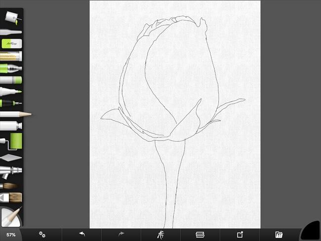 iPadで描いた鉛筆ツールによる下書き完成図