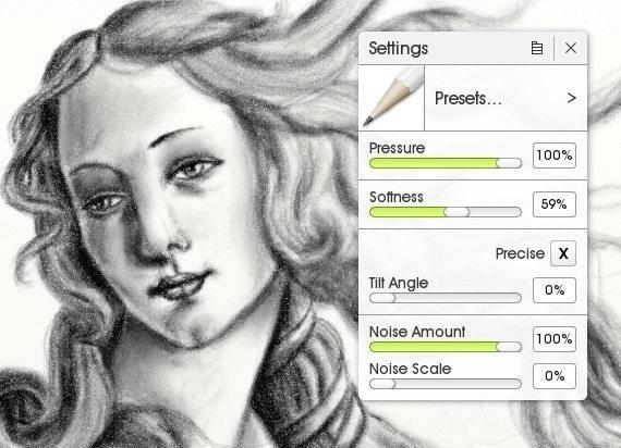 ArtRageの鉛筆