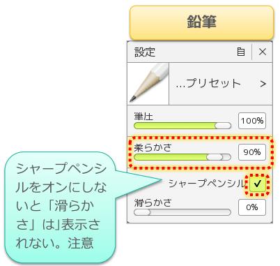 鉛筆の手ぶれ補正