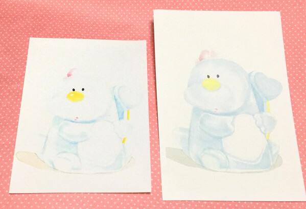 水彩画をコンビニの写真紙へ印刷すると色飛びする